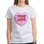 True Love Candy Valentine Heart (Front) Women's T-