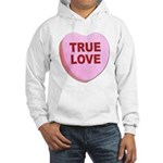 True Love Candy Valentine Heart (Front) Hooded Swe