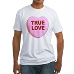 True Love Candy Valentine Heart (Front) Fitted T-S