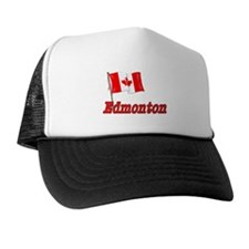 Canada Flag - Edmonton Text Trucker Hat