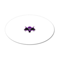Crow Triple Goddess - Purple 20x12 Oval Wall Decal