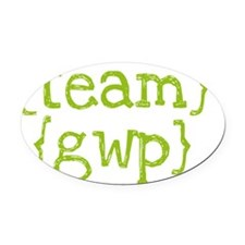 green_teamgwp_large Oval Car Magnet