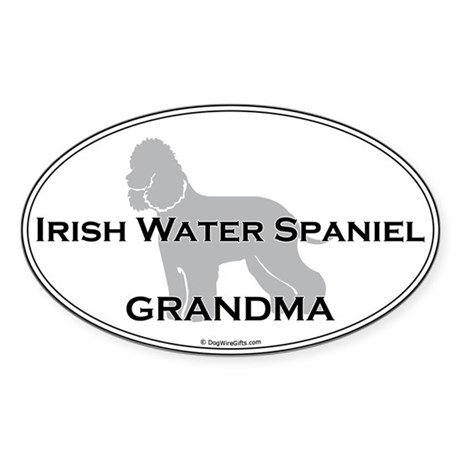 Irish Water Spaniel GRANDMA Oval Sticker
