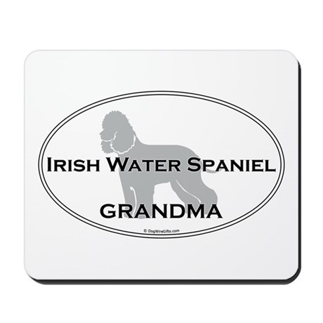Irish Water Spaniel GRANDMA Mousepad