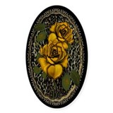 Wild Roses Oval Decal