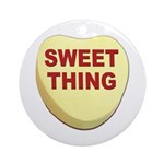 Sweet Thing Valentine Heart Ornament (Round)