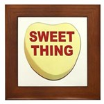 Sweet Thing Valentine Heart Framed Tile