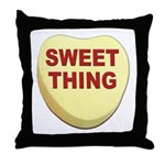 Sweet Thing Valentine Heart Throw Pillow