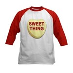 Sweet Thing Valentine Heart (Front) Kids Baseball