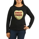 Sweet Thing Valentine Heart (Front) Women's Long S