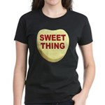Sweet Thing Valentine Heart (Front) Women's Dark T