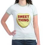 Sweet Thing Valentine Heart (Front) Jr. Ringer T-S