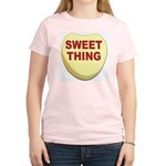 Sweet Thing Valentine Heart (Front) Women's Pink T
