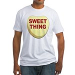 Sweet Thing Valentine Heart (Front) Fitted T-Shirt
