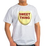 Sweet Thing Valentine Heart Ash Grey T-Shirt