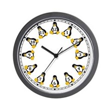 lrg_classic_tux_no_white Wall Clock