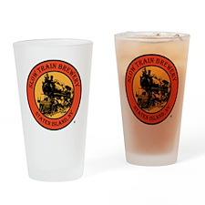 Slow-Train-Logo-Large-Orange.gif Drinking Glass