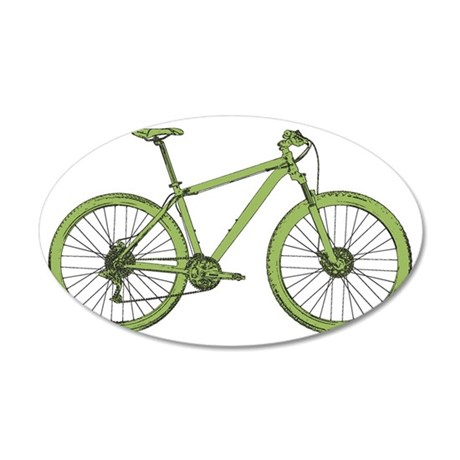 Olive Hardtail 35x21 Oval Wall Decal