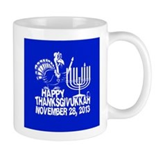 Happy Thanksgivukkah Turkey and Menorah Mugs