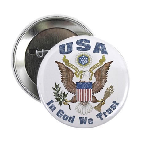 "USA - Weathered Look 2.25"" Button (100 pack)"