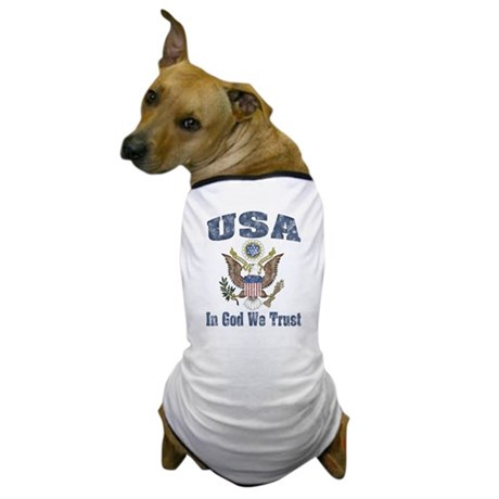 USA - Weathered Look Dog T-Shirt