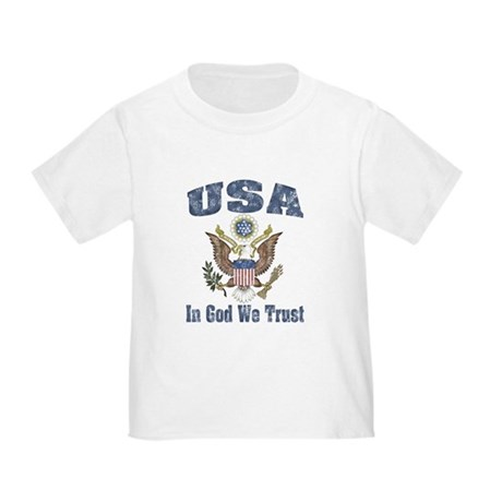 USA - Weathered Look Toddler T-Shirt