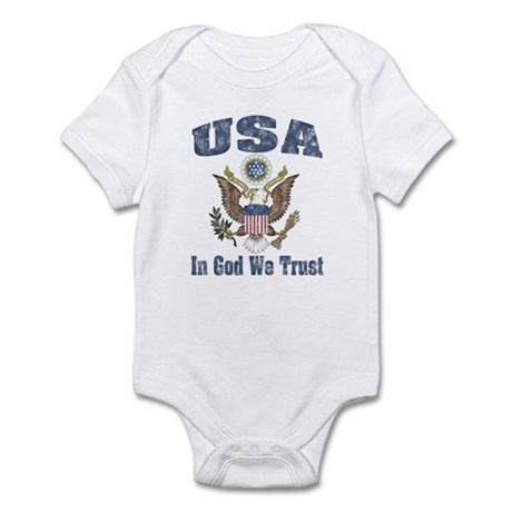 USA - Weathered Look Infant Bodysuit