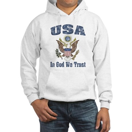 USA - Weathered Look Hooded Sweatshirt