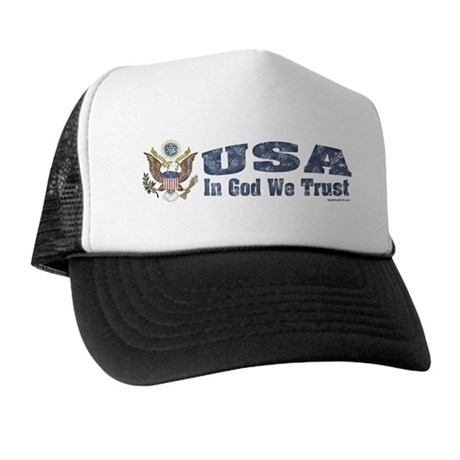 USA - Weathered Look Trucker Hat