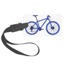 Blue Hardtail Mountain Bike Luggage Tag
