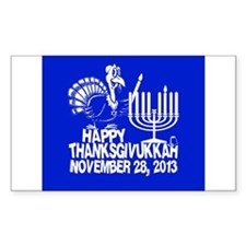 Happy Thanksgivukkah Turkey and Menorah Decal