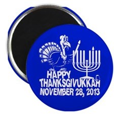 Happy Thanksgivukkah Turkey and Menorah Magnets