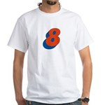 Candice 3D 8 White T-Shirt