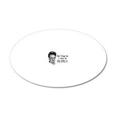 Kim Jong Il 20x12 Oval Wall Decal