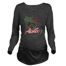 aloha Long Sleeve Maternity T-Shirt