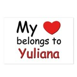 I love yuliana Postcards (Package of 8)