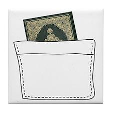 2-quran_in_pocket Tile Coaster