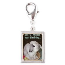 2-HB014-Belated Silver Portrait Charm