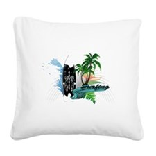 surfing Square Canvas Pillow
