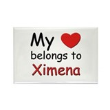 I love ximena Rectangle Magnet