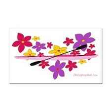 flowerpowerkayak Rectangle Car Magnet