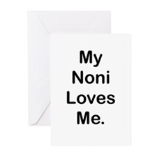 MY NONI LOVES ME Greeting Cards