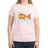 Camron orange fish (goldfish) Women's Pink T-Shirt