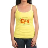 Camron orange fish (goldfish) Ladies Top