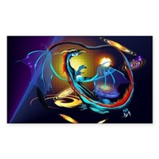 Blue Galaxy Dragon -Yardsign Decal