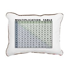 multiplication-table Rectangular Canvas Pillow