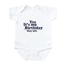 May 9 Birthday Infant Bodysuit