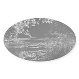 Pond in the Spring Oval Decal