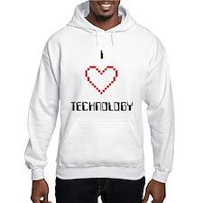 I Love (Heart) Technology - Hoodie