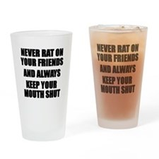 Never Rat Drinking Glass